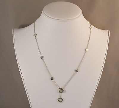 c8dca9c89 GENUINE TIFFANY & Co. Open Heart Lariat Necklace Sterling Silver 19 ...