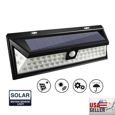 90 LED Solar PIR Motion Sensor Wall Light Outdoor Waterproof Garden Lamp