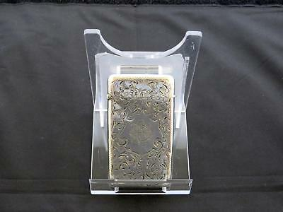 Antique Edwardian Silver Card Case, Birmingham, J.G. Ltd., Circa 1901-02