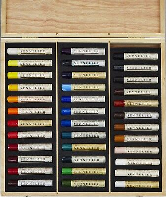 Sennelier Artist Oil Stick - Wooden Box Set - 36 x 38ml Paint Sticks