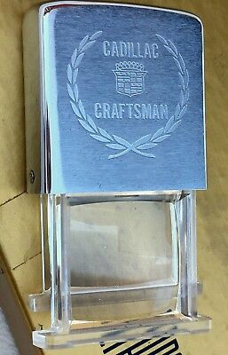 Rare 1970's Vintage CADILLAC CRAFTSMAN Zippo Ruler & Magnifying Glass NEW