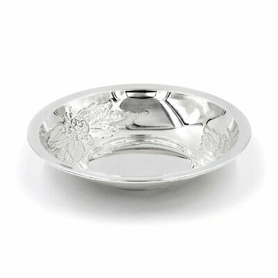 Italian Solid Silver Chiseled Bon Bon Bowl Strawberries Pattern