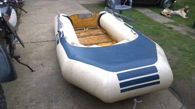 """zodiac inflatable 10' 7"""" by 3'10""""  wooden transom and floor,tender or fun"""