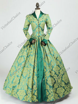 Tudor Gothic Jacquard Dress Game of Thrones Gown Halloween Costume N 162