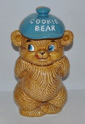 COOKIE BEAR Cookie Jar - Japan NC Cameron & Sons 1960s