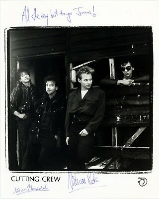 CUTTING CREW *I JUST DIED IN YOUR ARMS* Band 10x8 Signed Autographed Photo