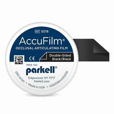 """Parkell S018 Accu Film II Articulating Film Double Sided Black .0008"""" 280/Pk"""