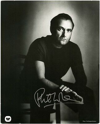 PHIL COLLINS *AGAINST ALL ODDS / GENESIS* Singer 10x8 Signed Autographed Photo