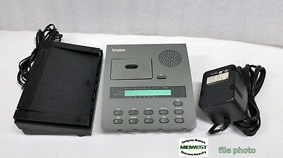 Dictaphone 3750 Express Writer Microcassette Transcriber w/ Foot Pedal