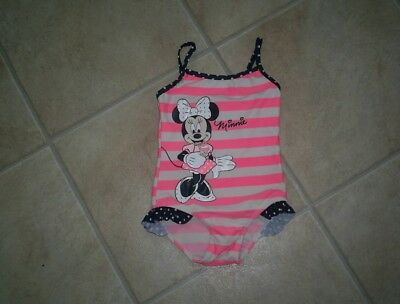 """Girls """"Peacocks"""" Disney Range Minnie Mouse Swimming Costume Age 18-24 months"""