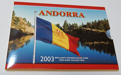 Andorra Kms Coinset 2003 Bu Collection Mit 1 Euro Griechenland Italien Blister