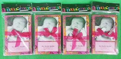 4 Packs of 10 Pink Baby Announcements With Envelopes - New