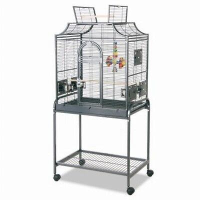 Stainless Steel Bird Cage Wheeled Parakeet Budgie Cage Shelter Large 71x45x139cm