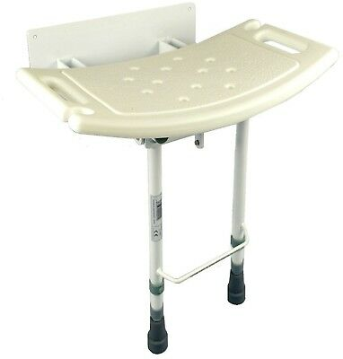 Bathroom Shower Seat Wall Mounted Stool Legs Folding Chair Disabled Mobility Aid
