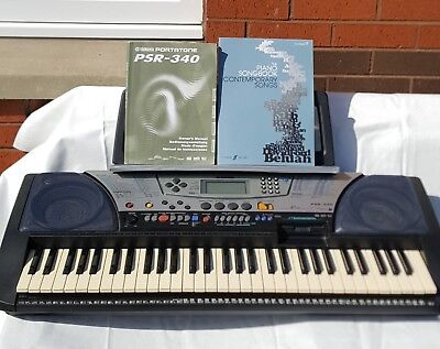 yamaha psr 340 keyboard power lead owners manual and sheet music rh picclick co uk Yamaha YPG-235 Keyboard Manual yamaha keyboard service manual