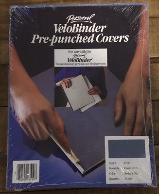 VeloBinder Pre-punched Covers- Medium Blue- Item #43510