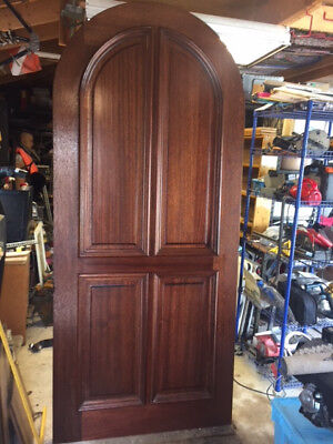 """Solid Wood Mahogany Arched Top 2-1/4 thick - Entry Door (42""""x96""""x2-1/4"""")"""
