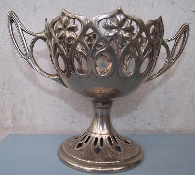 English Art Nouveau Basket Silver Plated EPNS unknown Maker lacking Glass