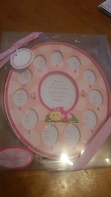Kangaroo Picture Frame New Born Girl 1St Year - Wholesale Lot Of 6
