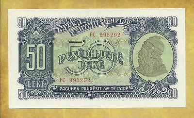 Albania 50 Lek 1957 Prefix FC Unc Currency Banknote ***USA SELLER***
