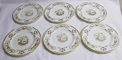 "Royal Doulton  The Beaufort Set Of Six 6 3/4"" Bread Plates...................bb2"