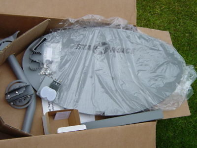 NEW Shaw Direct dish 60 cm STARCHOICE Ku Satellite WITH USED DUAL QUAD LNB F1/F2