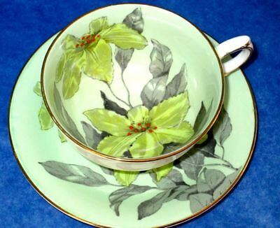 Windsor Exquisite Hand Painted Yellow Lilies Bone China Cup & Saucer
