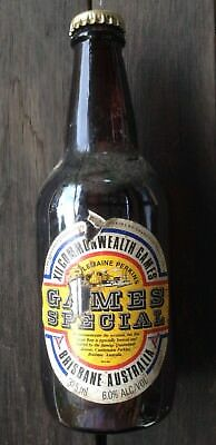 CASTLEMAINE PERKINS XII Commonwealth Games Special lager beer full bottle @ 3765