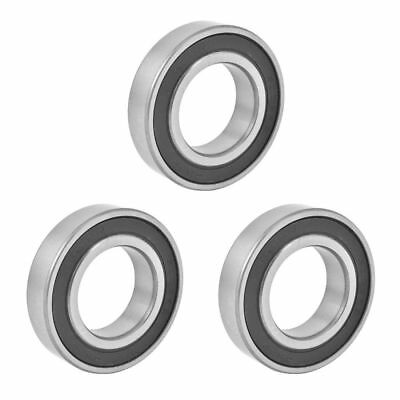 3PCS Silver Tone Black 6006RS Deep Groove Ball Bearing 55mm x 30mm x 13mm