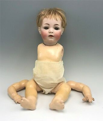 "Antique Simon & Halbig 121 19"" Bisque Baby Doll, Needs Work"