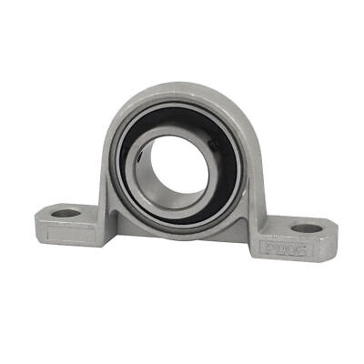 P006 30mm Mounted Self Align Pillow Block Bearing Solid Base Cast Housing Gray