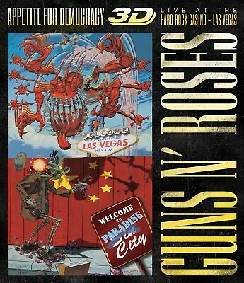 Guns N' Roses - Appetite For Democracy 3D: Live  Blu-Ray New+