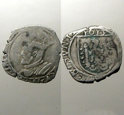 BESANCON (FRANCE) SILVER COROLUS___Dated 1615___CHARLES V - HOLY ROMAN EMPEROR