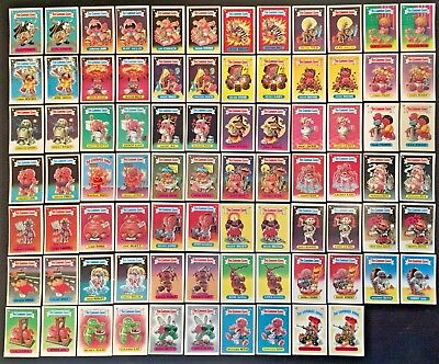COMPLETE SET 1986 The Garbage Gang Series 1 Australia NZ Rare 84 Cards Pail Kids