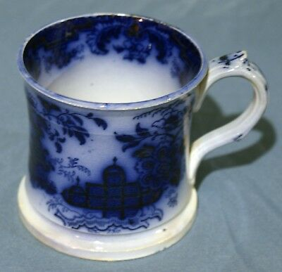 Flow Blue, Ironstone, Early Victorian, Shaving Mug, HONC By P & G, c. 1850