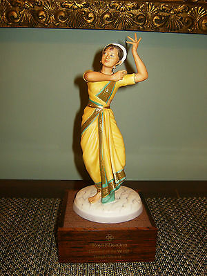 Rare Royal Doulton Hn2830 Indian Temple Dancer Ltd Ed 106/750 1976 Coa & Box