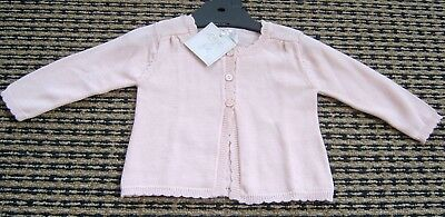 Il Etait Baby Girls French Pink Cardigan New With Tags Sz 3 / 6 / 9 / 12 Months