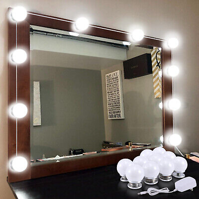 HOLLYWOOD STYLE LED Vanity Mirror Lights Kit with Dimmable Light ...