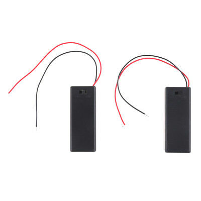 2PCS 3V 2 AAA Battery Holder Case with ON/OFF Toggle Switch Box Pack Cover WO
