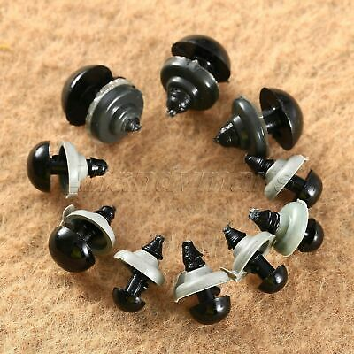 UK Stock 100pcs 6/8/9/10/12mm Mix Black Safety Eye For Teddy Bear Toy Doll Craft