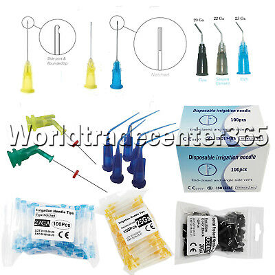 Dental Irrigation Endodontic Needle Endo-Closed Pre Bent Notched Syringes Tips