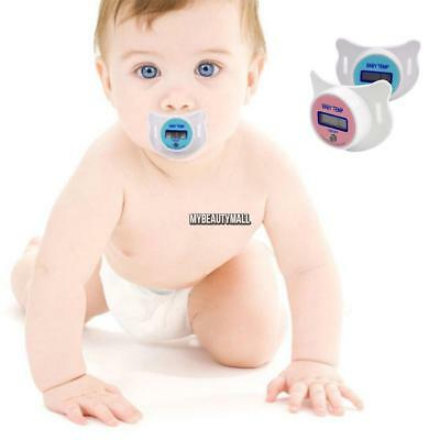 New Practical Baby Kid LCD Digital Mouth Nipple Pacifier Thermometer MY8L