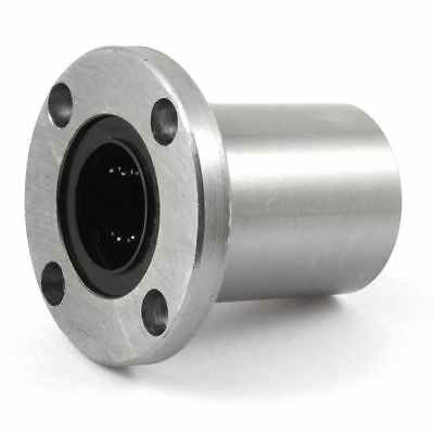 LMF25UU 60mm x 60mm Round Base Straight Motion Ball Bearing Silver Tone