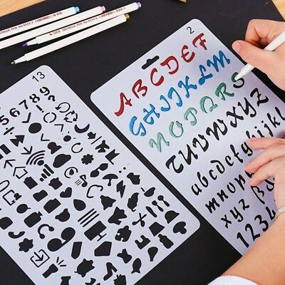 Number Letter Alphabet Layering Stencils Painting Scrapbooking Paper Card Craft