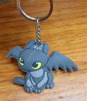 Dreamworks How to Train Your Dragon Night Fury Toothless Keyring HOT New