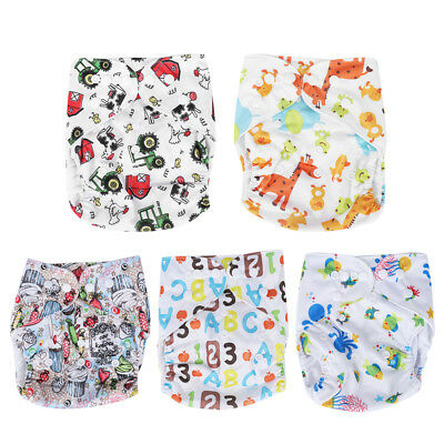 Adjustable Reusable Modern Cloth Nappies Baby Waterproof  Nappy Diaper 36x15cm