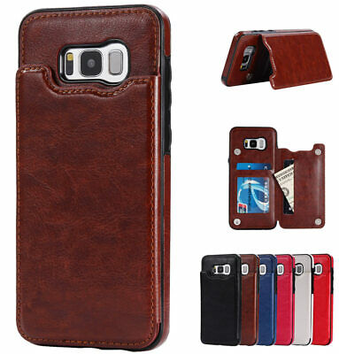 For Samsung Galaxy Note 9 / S9 / S10+ Plus Card Slot Flip Leather Wallet Case