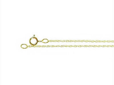14K Yellow Gold Rope Strand Pendant Chain 0.75mm wide - 16 inch Light Weight NR