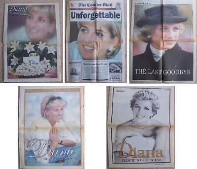 Princess Diana Newspaper Collection x 5