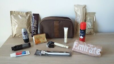 Emirates Airline Bvlgari Business Class Amenity Kit Bag - Toiletries Wash Bag